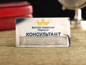 """Бейдж """"British American Tobacco"""""""